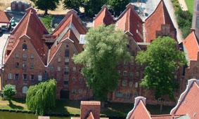 Historische Speicher Obertrave Lübeck, Foto: Zell
